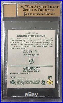2007 07 UD Goudey Derek Jeter Auto Autograph 1/1 On Ebay Rare Gem Mint 9.5