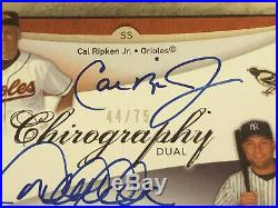 2007 Derek Jeter Cal Ripken Dual Auto SP Authentic Chirography HOF NEXT MONTH