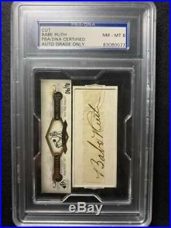 2008 Upper Deck SP Legendary Cuts Signatures BABE RUTH Auto Autograph #06/10 PSA