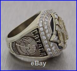 2009 New York Yankees 14k White Gold 3.00ctw Diamond World Championship Ring E8