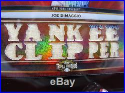 2011 Topps Triple Threads Joe DiMaggio Derek Jeter NY Double Relic Booklet 9/36