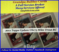 2011 Topps Update WalMart BLUE MIKE TROUT Rookie Card RC PSA 10 RARE LOW POP 43
