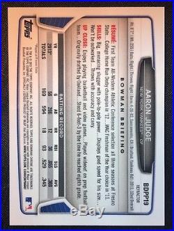 2013 Bowman Chrome Aaron Judge Rookie Black Wave Signed Refractor Auto RC BDPP19