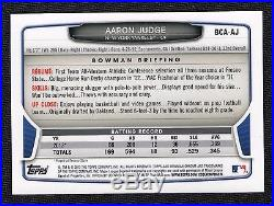2013 Bowman Chrome Draft AARON JUDGE Auto RC Autograph True Rookie Card YANKEES
