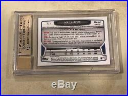 2013 Bowman Chrome Draft Prospect Red Refractor Auto Aaron Judge 3/5 BGS 9.5 10