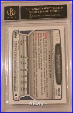 2013 Bowman Chrome GOLD REFRACTOR Aaron Judge Yankee RC BLACK LABEL 10 AUTO BGS