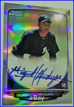 2013 Bowman Chrome Refractor Miguel Andujar Auto Rc /500 Great Condition