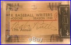 2013 TriStar Signa Cut Babe Ruth Cut Auto 1/1! Most Cleanest Babe Autos Iv owned