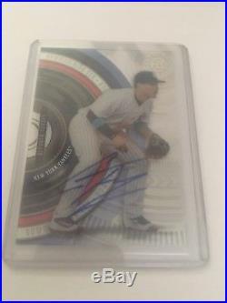 2017 Bowman High Tek Base Auto Gleyber Torres New York Yankees RC Card Nice $