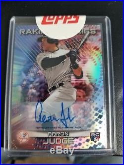 2017 Bowman's Best AARON JUDGE #/99 Raking RC Auto SSP New York Yankees SEALED