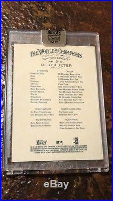 2017 Derek Jeter Topps Archives Signature Series Allen & Ginter Buyback Auto 1/1