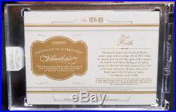 2017 Flawless Babe Ruth Cut Auto And Jersey Relic 2/2 Encased By Panini Wow