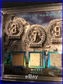 2017 Leaf Q Babe Ruth Mickey Mantle Ted Williams Stan Musial, GU Bat, Jsy #4/5