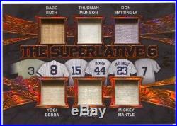 2017 Leaf Q Babe Ruth Mickey Mantle Yogi Berra Thurman Munson 6x Bat Jersey #/9