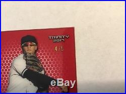 2017 Leaf Trinity Gleyber Torres Clear Autograph #4/5 Red Parallel Auto Yankees