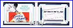 2017 National Treasures Legends Cut Auto Jersey Booklet MICKEY MANTLE (2/5)