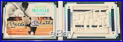 2017 National Treasures MICKEY MANTLE LEGENDS CUT AUTO PATCH BOOKLET CARD #4/5