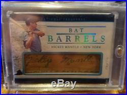 2017 National Treasures Mickey Mantle Bat Barrel 1/1