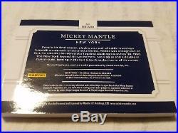 2017 National Treasures Mickey Mantle Bat Barrel 1/1 New York Yankees