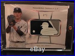 2017 TOPPS DIAMOND ICONS MASAHIRO TANAKA MLB BATTER LOGO PATCH RELIC #'d 1/1