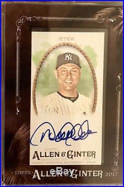 2017 Topps Allen and Ginter Mini Framed Derek Jeter Auto'd SSP NY Yankees