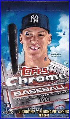 2017 Topps Chrome Baseball Hobby Box Factory Sealed