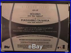 2017 Topps Diamond Icons Ichiro & Masahiro Tanaka Dual ON CARD Auto Jersey #1/5