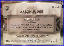 2017 Topps Dynasty Aaron Judge Rookie 5 Color Patch Auto 03/10