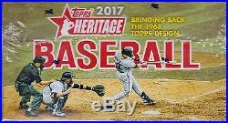 2017 Topps Heritage Baseball sealed retail box 24 packs of 9 MLB cards
