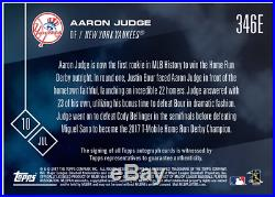 2017 Topps Now #346E Aaron Judge RC HR Derby Champion Auto #1/1 BGS 9.5/10
