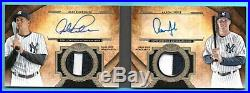 2017 Topps Tier One BOOKLET Aaron Judge & Alex Rodriguez #/10 RC DUAL AUTO PATCH