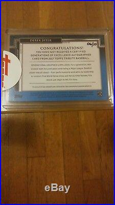 2017 Topps Tribute Generations of Excellence Derek Jeter Auto 6/10