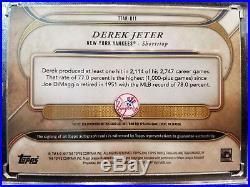 2017 Topps Triple Threads AUTO Jersey Relic Derek Jeter CAPTAIN 11/18 Autograph