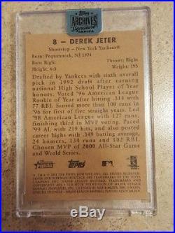 2018 Archives Signature Derek Jeter 1/1 Auto Yankees 2001 Bowman Heritage