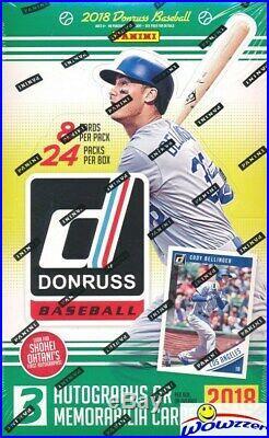 2018 Donruss Baseball Factory Sealed 24 Pack HOBBY Box-192 Cards-3 AUTOGRAPH/MEM