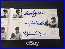 2018 National Treasures NY Yankees Franchise Lineups 9 Nine Auto Booklet 5 Judge