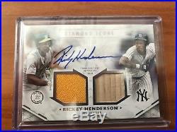 2018 Topps Diamond Icons RICKEY HENDERSON AUTO DUAL JERSEY BAT, /10! Yankees A's