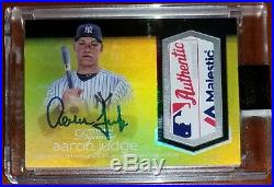 2018 Topps Dynasty AARON JUDGE True 1/1 Majestic Patch Auto YANKEES