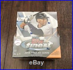 2018 Topps Finest FACTORY SEALED Hobby Box 2 autos OHTANI Jeter Trout