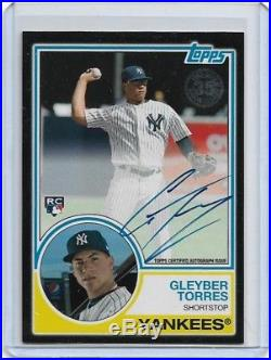 2018 Topps Series 2 Gleyber Torres Black Rookie Rc Auto Autograph 64/99 Yankees