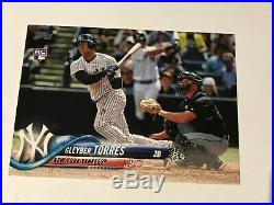 2018 Topps Series 2 Gleyber Torres Rookie SP Variation 699 New York Yankees