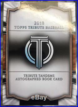 2018 Topps Tribute Aaron Judge / Derek Jeter 1/1 Booklet
