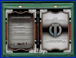 2018 Topps Tribute Aaron Judge Derek Jeter Dual Auto On Card Book 5/10 Yankees