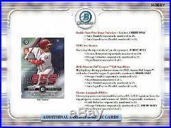 2019 Bowman Chrome Baseball Cards Mini Hobby Box (1 Auto) In stock