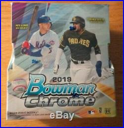 2019 Bowman Chrome Baseball Factory Sealed Hobby Box 2 Autos
