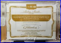 2019 Panini Flawless MICKEY MANTLE Cut Signature AUTO Relic Sealed SP /7 YANKEES