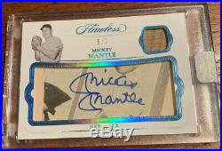 2019 Panini Flawless Mickey Mantle Encased Cut Auto And Game Used Material Sp /7