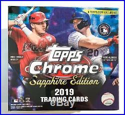 2019 Topps Chrome Sapphire Edition Online Exclusive SEALED 1 Box MLB Topps NIB