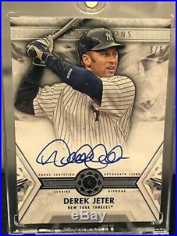 2019 Topps Diamond Icons Derek Jeter Genuine Real Diamond Auto Autograph #d 3/5