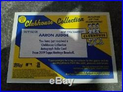 2019 Topps Heritage Clubhouse Collection Aaron Judge Auto Jersey /25 yankees hot